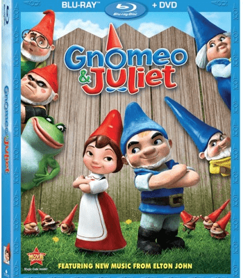 Gnomeo & Juliet BluRay/DVD Combo Pack Giveaway