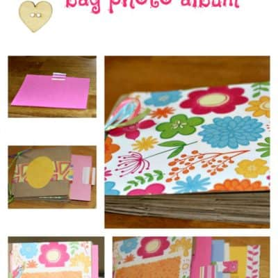Make a Paper Lunch Bag Photo Album #DIY #Craft