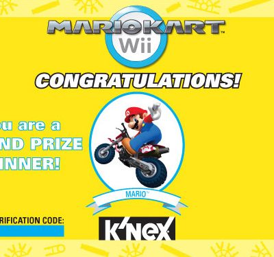 Mario Kart & K'nex to give away 300 Mario or Luigi K'nex figures DAILY