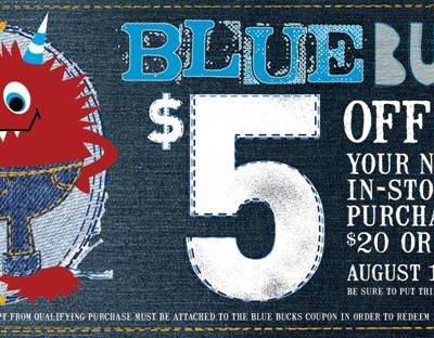 Blue Bucks at The Children's Place