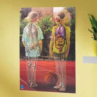 Kids Summer Fun:  Lenticular Human Body Poster (Giveaway)