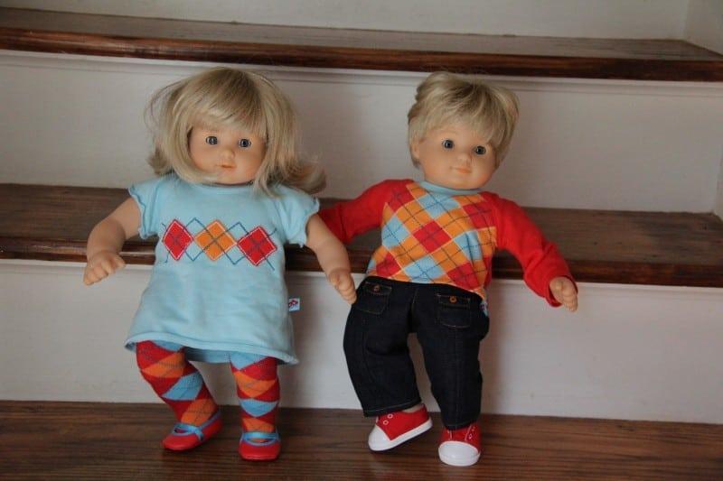 American Girl Bitty Twins boy girl blonde