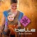 belle baby carrier ad button