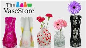 2 FREE Expandable Vases- beautiful prints and colors! FREE Shipping!
