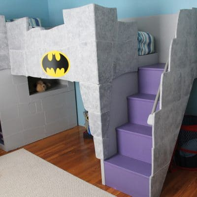 A Batman bed and room for a little boy…
