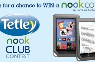 """Tetley Tea's """"Nook Club"""" Contest (Barnes & Noble Giveaway)"""