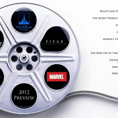 Walt Disney Pictures announces 2012 Slate