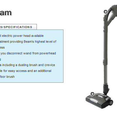 Beam Central Vaccuum Systems