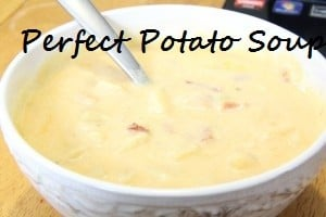 Perfect Potato Soup For A Winter Day {Weight Watchers Friendly}