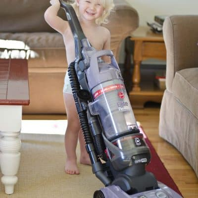 Hoover Elite Rewind Bagless Upright Vacuum Review and Giveaway