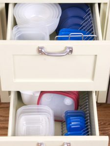 food storage container organization