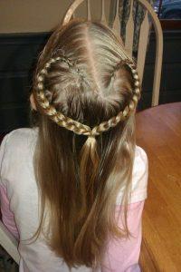 valentine hair braid