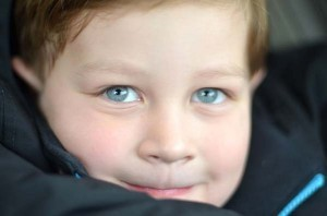 blue eyes little boy
