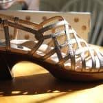 Wisteria sandal in Platinum