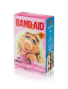 miss piggy muppets band-aids