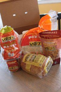 Udi's gluten fee foods bagels pizza crust cookies granola
