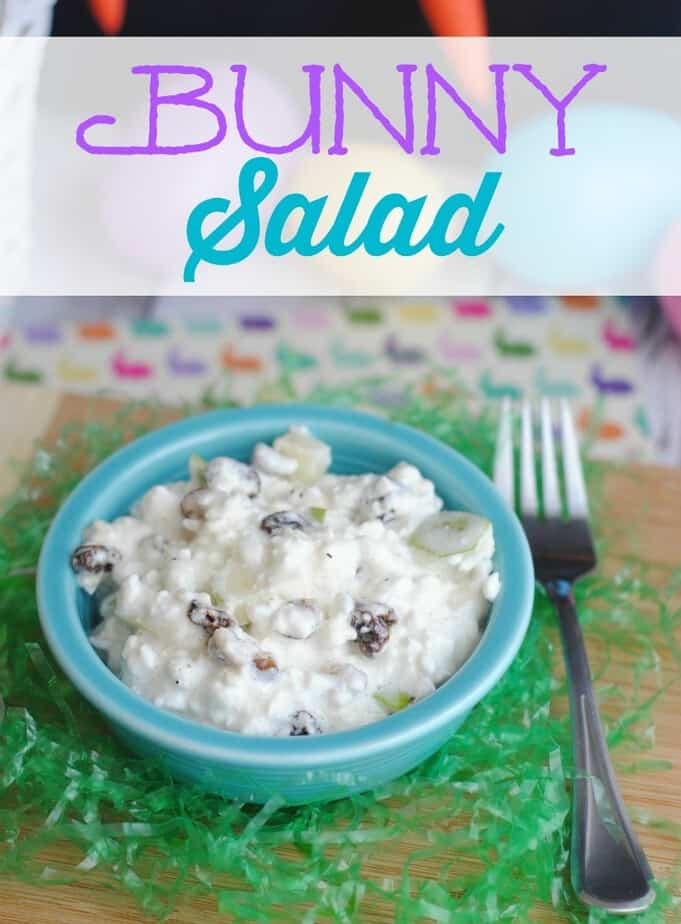 Bunny Salad aka White Rabbit Salad for Easter from This Mama Loves
