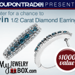 coupon trade my jewelry boxblue diamond earrings