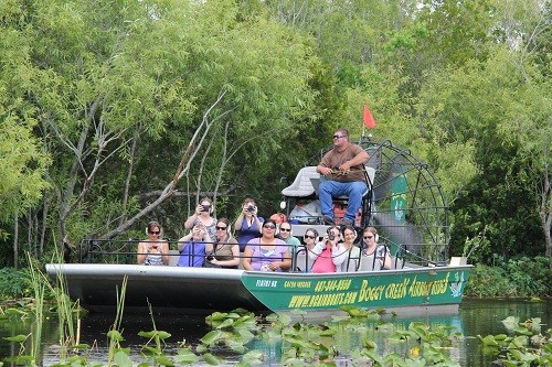 Eco friendly fun with boggy creek airboat rides in for Boggy creek fish camp
