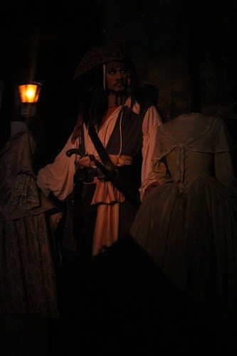 Johnny Depp in Pirates of the Caribbean ride at Magic Kingdom