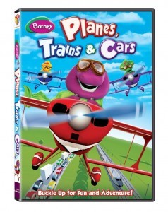 barney planes, trains and cars