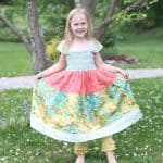 Persnickety Clothing Bella Dress with Cropped Yellow Ruffle Leggings