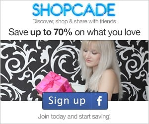 Have you signed up for SHOPCADE?  Don't say I didn't warn you!