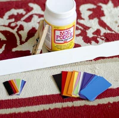 Summer Road Trip – Paint Chip Color Match Activity