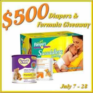 $500 Diapers and Formula Giveaway!