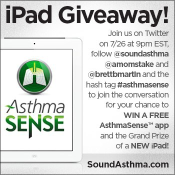 #AsthmaSense Twitter Party July 26th (Grand Prize: iPad3!)