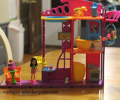 Polly Pocket Hangout House Playset and Stick N Play Room