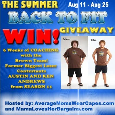 Back to Fit Biggest Loser Giveaway