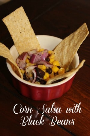 corn salsa with black beans