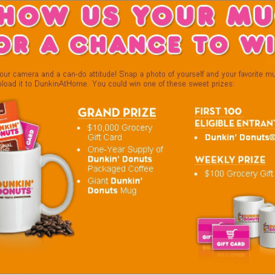 "Dunkin Donuts ""Mug Up"" Promotion"