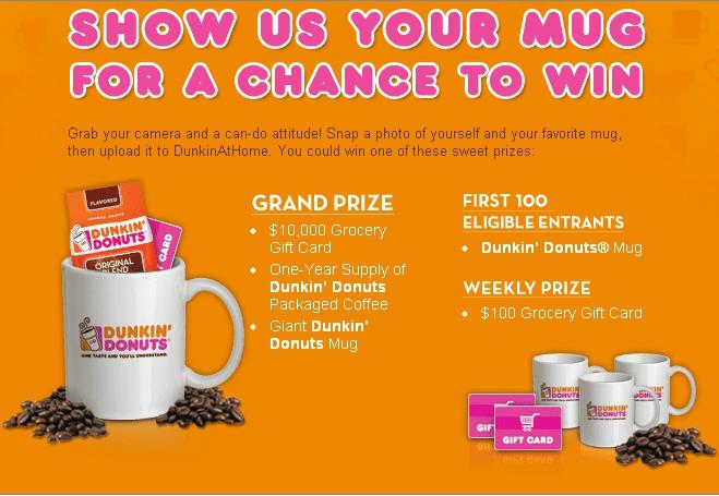 dunkin donuts mug up promotion