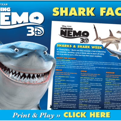 Finding…SHARK WEEK! (Free Shark Facts and FUN inside!)