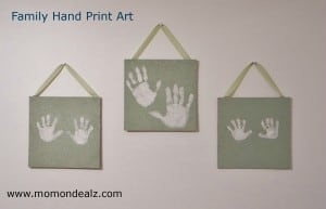 Kids Frugal Fun-Family Hand Print Art