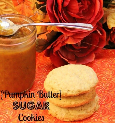 pumpkin butter sugar cookies from around my family table