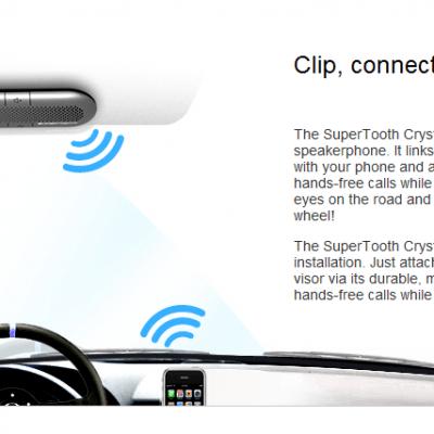 Supertooth Crystal In-Car Speakerphone