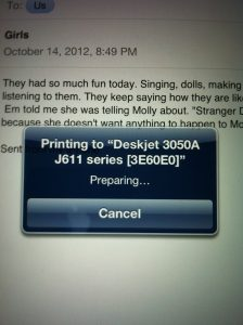 printing from ipad