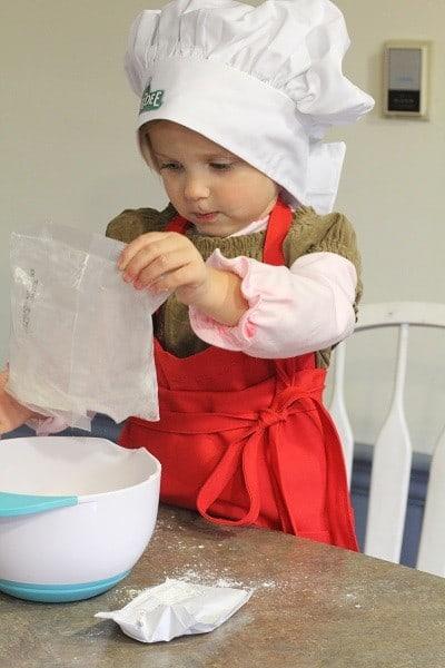 chef boyardee making pizza dough
