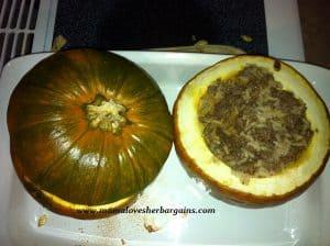 dinner in-a-pumpkin
