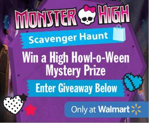 Monster High Scavenger Haunt at Walmart Oct 18-21 #ScavengerHaunt #Giveaway