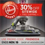 Mamalovesherbargains.com Hoover 30% off promocode FRIENDS14 @hoover.com