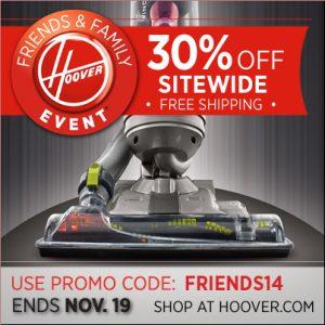 Mamalovesherbargains.com Hoover 30% off promocode FRIENDS14 @hoover.com