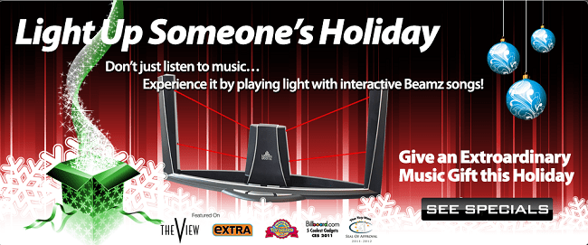 beamz light up someones holiday with music