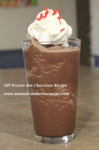 DIY frozen hot chocolate recipe finished
