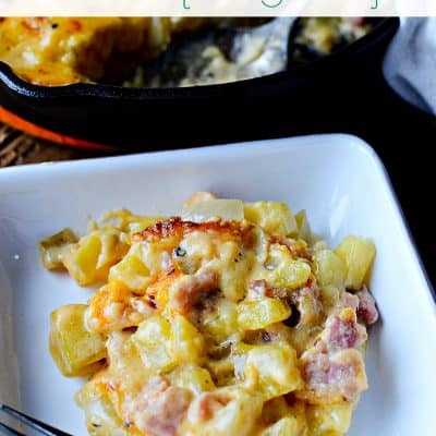 Leftover Ham and Scalloped Potatoes au Gratin with White Wine (Recipe)
