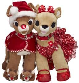 build a bear rudolph and clarice