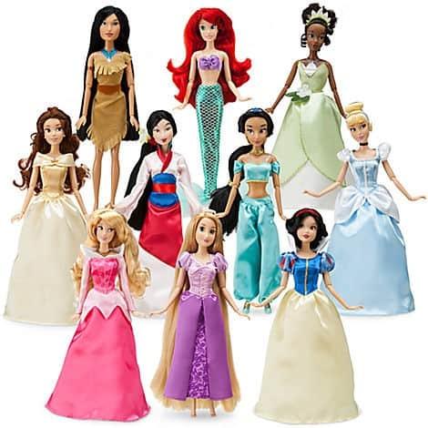 disney princess 10 doll set disney store